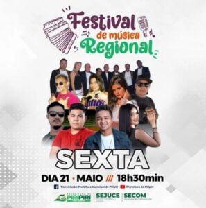 3ª Live do Festival de Música Regional - Atrações
