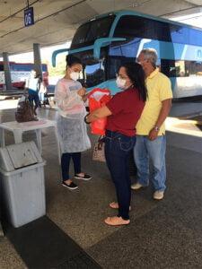 Foto: Sesapi / Passageiros no embarque no terminal rodoviário de Teresina